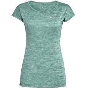 SALEWA Puez Melange Dry Bluzka z krótkim rękawem Kobiety, feldspar green mel